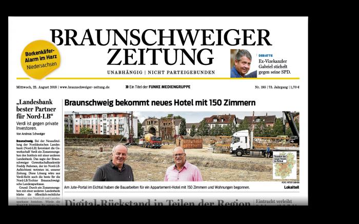 Die gedruckte Braunschweiger Zeitung.