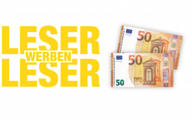 Jetzt Leser werben und 100 € Prämie sichern.